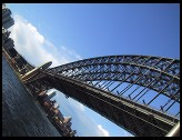 Digital photo titled sydney-harbor-bridge-tilted