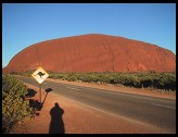 Digital photo titled ayers-rock-and-kangaroo-sign
