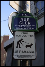 Digital photo titled rue-cler-sign-tight