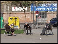 Digital photo titled barceloneta-chatting-in-main-square