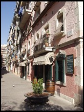 Digital photo titled barceloneta-narrow-street