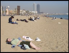 Digital photo titled barceloneta-sunbathers-in-february