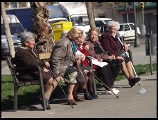 Digital photo titled barceloneta-women-on-bench