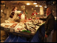 Digital photo titled boqueria-fish-transaction