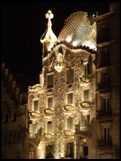 Digital photo titled casa-batllo-at-night-including-crown