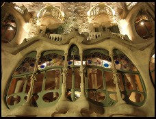 Digital photo titled casa-batllo-closeup-at-night-horizontal
