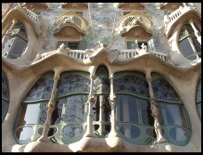 Digital photo titled casa-batllo-front-windows-by-day