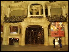 Digital photo titled casa-mila-at-night-around-the-front-door