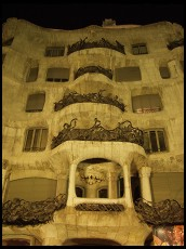 Digital photo titled casa-mila-at-night-tight-vertical