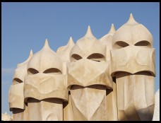 Digital photo titled casa-mila-roof-horizontal-guys