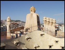 Digital photo titled casa-mila-roof-overview
