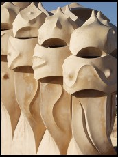 Digital photo titled casa-mila-roof-vertical-guys