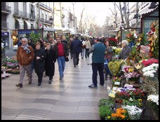 Digital photo titled la-rambla-flower-vendors
