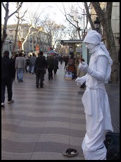 Digital photo titled la-rambla-white-guy