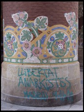 Digital photo titled palau-de-la-musica-column-with-graffiti