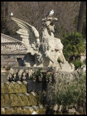 Digital photo titled parc-de-la-cuitadella-gargoyle-and-seagull
