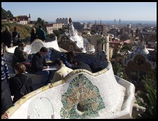 Digital photo titled parc-guell-bench-and-city
