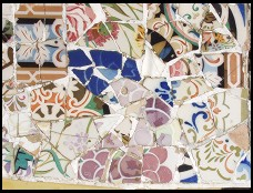 Digital photo titled parc-guell-bench-tile-1