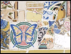 Digital photo titled parc-guell-bench-tile-2