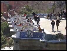 Digital photo titled parc-guell-benches-tight