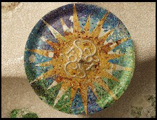 Digital photo titled parc-guell-ceiling