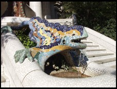 Digital photo titled parc-guell-dragon-alone