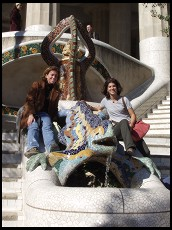 Digital photo titled parc-guell-dragon-and-girls-clutching-purse