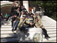 Digital photo titled parc-guell-dragon-crowd