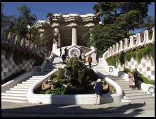 Digital photo titled parc-guell-entrance