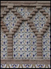Digital photo titled poble-espanyol-moorish-tiles
