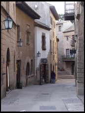 Digital photo titled poble-espanyol-narrow-street
