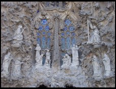 Digital photo titled sagrada-familia-nativity-facade-detail