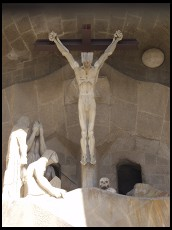 Digital photo titled sagrada-familia-passion-facade-just-christ