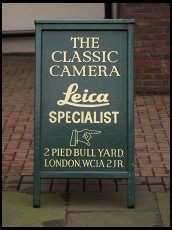 Digital photo titled the-classic-camera-sign