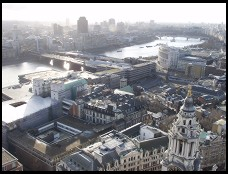 Digital photo titled up-river-from-st-pauls