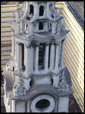 Digital photo titled wrapped-building-and-st-pauls-fragment-tight