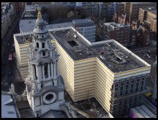 Digital photo titled wrapped-building-from-top-of-st-pauls
