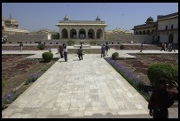 Digital photo titled agra-fort-garden-courtyard