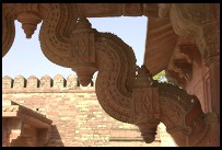 Digital photo titled fatehpur-sikri-corner-beam