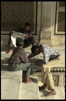 Digital photo titled jami-masjid-tomb-people-on-steps