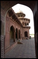 Digital photo titled mosque-at-taj-mahal-through-arch