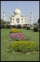 Digital photo titled taj-mahal-and-flowers