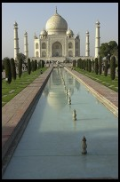 Digital photo titled taj-mahal-and-pool-90-minutes-before-sunset