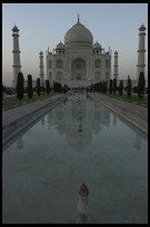 Digital photo titled taj-mahal-and-pool-after-sunset