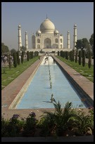 Digital photo titled taj-mahal-empty-pool