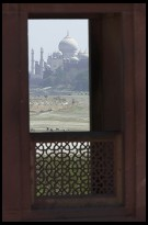 Digital photo titled taj-mahal-framed-by-agra-fort-window