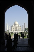 Digital photo titled taj-mahal-framed-by-main-gate-doorway
