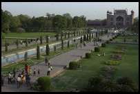 Digital photo titled taj-mahal-garden-near-sunset
