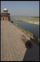 Digital photo titled taj-mahal-guard-and-river