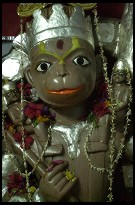 Digital photo titled deeg-water-palace-hanuman-statue